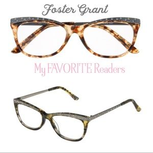 Foster Grant Crystal Accent Cat Eye Readers 2.00